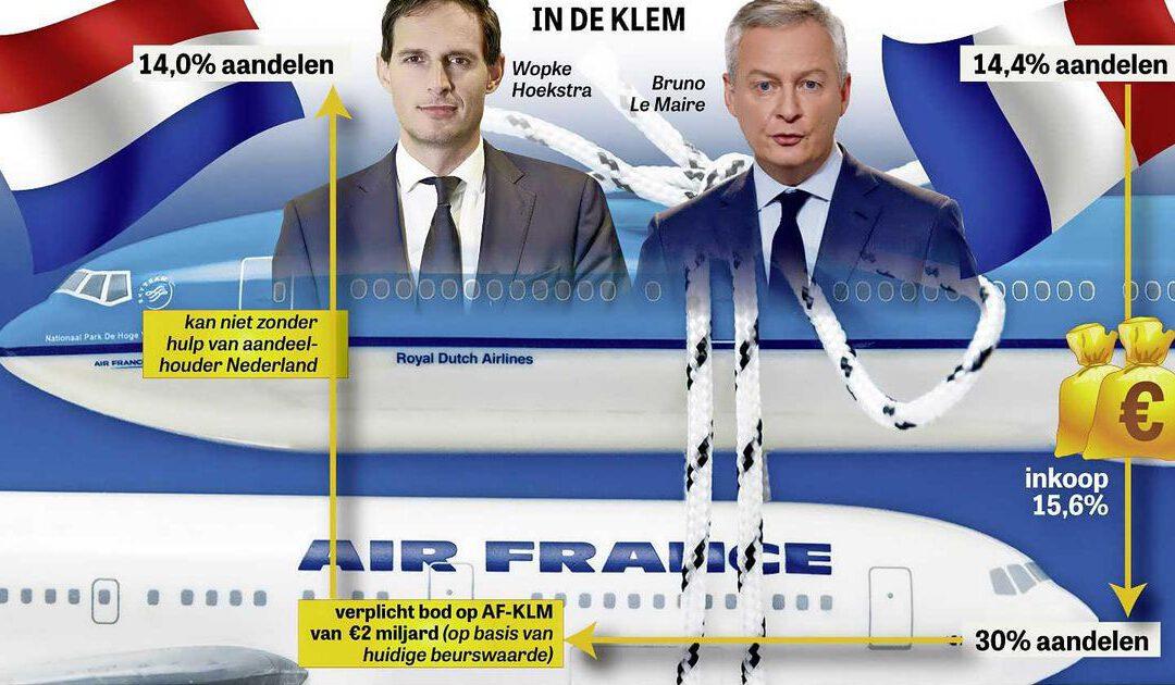 Aandeelhouders Air France KLM in spagaat bij overheersing Franse Staat