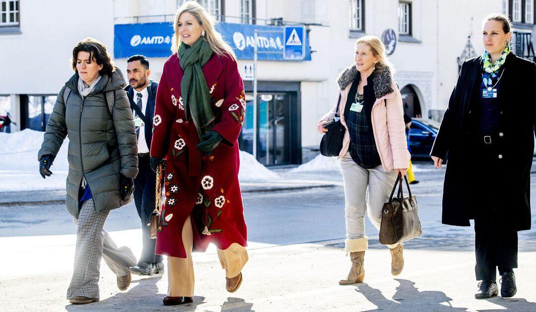 Geen sneeuwschoenen voor Máxima bij World Economic Forum